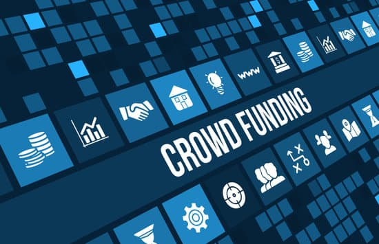 crowdfunding concept image with business icons and copyspace